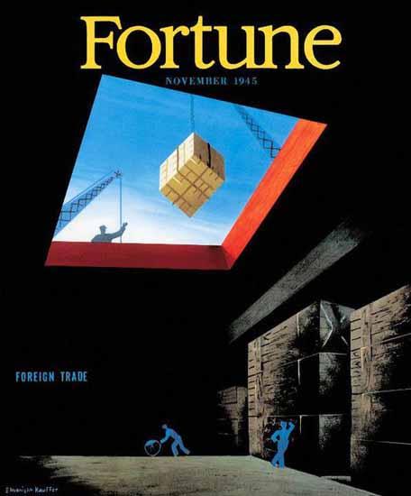 Edward McKnight Kauffer Fortune Magazine November 1945 Copyright | Fortune Magazine Graphic Art Covers 1930-1959
