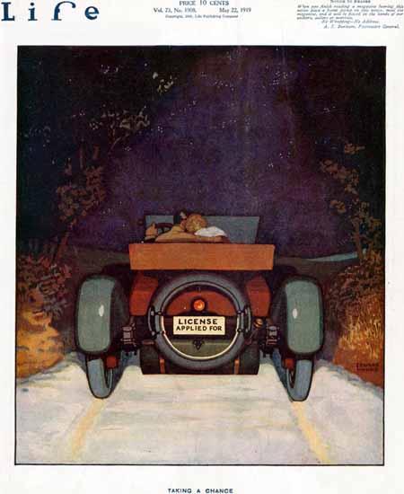 Edward Monks Life Humor Magazine 1919-05-22 Copyright | Life Magazine Graphic Art Covers 1891-1936