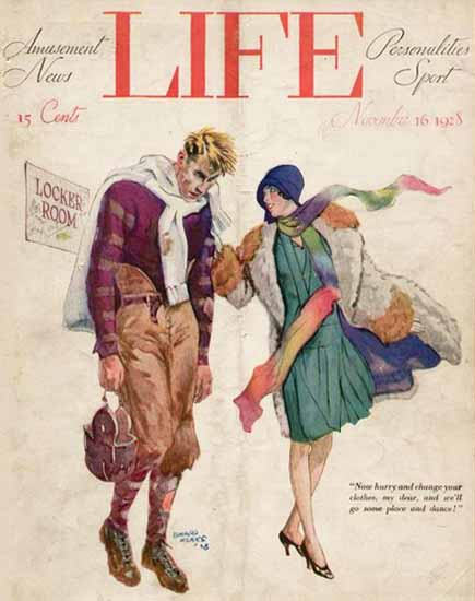 Edward Monks Life Humor Magazine 1928-11-16 Copyright | Life Magazine Graphic Art Covers 1891-1936