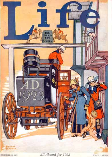 Edward Penfield Life Humor Magazine 1922-12-28 Copyright | Life Magazine Graphic Art Covers 1891-1936
