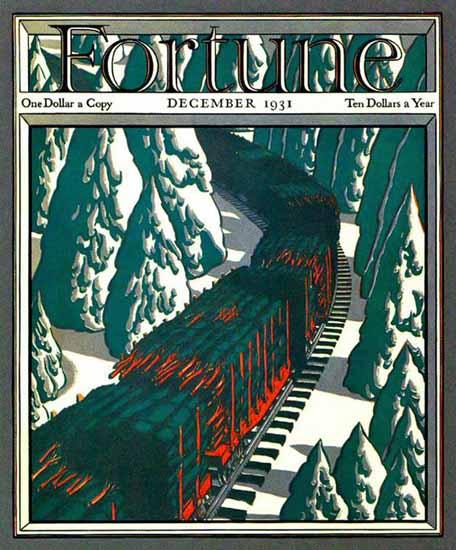 Edwin Georgi Fortune Magazine December 1931 Copyright | Fortune Magazine Graphic Art Covers 1930-1959