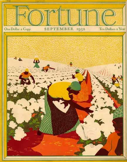 Edwin Georgi Fortune Magazine September 1931 Copyright   Fortune Magazine Graphic Art Covers 1930-1959