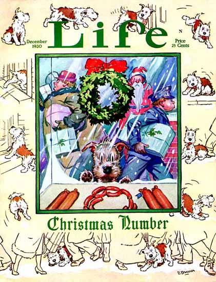 Edwina Life Humor Magazine 1930-12-05 Copyright | Life Magazine Graphic Art Covers 1891-1936