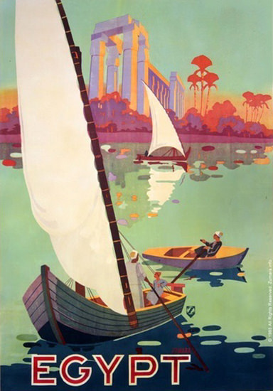 Egypt Boats On The Nile | Vintage Travel Posters 1891-1970