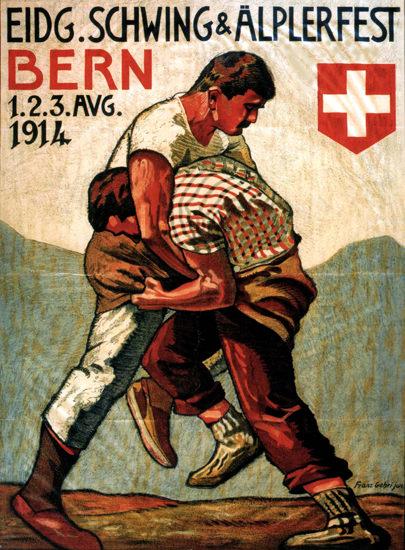 Eidgenoessisches Schwingfest 1914 Bern | Vintage Ad and Cover Art 1891-1970