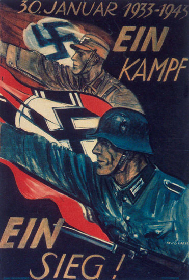 Ein Kampf Ein Sieg 1943 One Fight One Vivtory | Vintage War Propaganda Posters 1891-1970