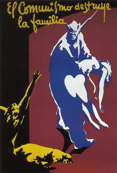 El Comunismo Destruye La Familia Spain Espana | Vintage War Propaganda Posters 1891-1970