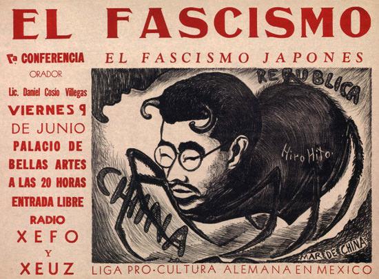 El Facismo Japones Hiro Hito Mexico   Vintage War Propaganda Posters 1891-1970