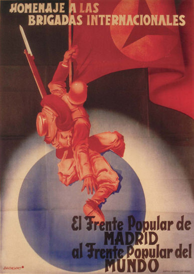El Frente Popular De Madrid Spain Espana | Vintage War Propaganda Posters 1891-1970