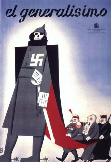 El Generalisimo Spain Espana | Vintage War Propaganda Posters 1891-1970