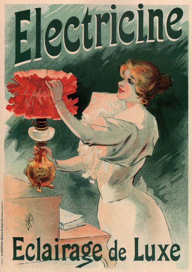 Electricine Eclairage De Luxe France Lamps | Sex Appeal Vintage Ads and Covers 1891-1970