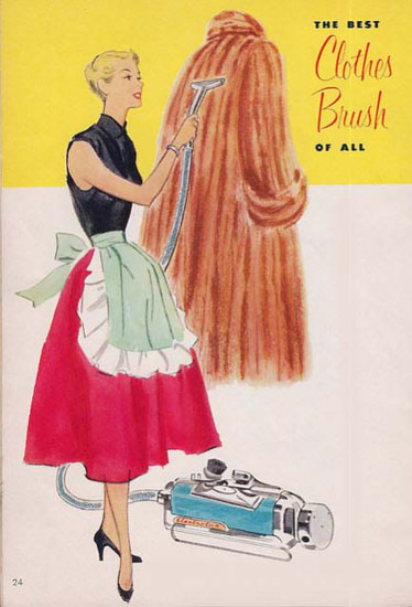 Electrolux Vacuum Cleaner Best Clothes Brush | Sex Appeal Vintage Ads and Covers 1891-1970