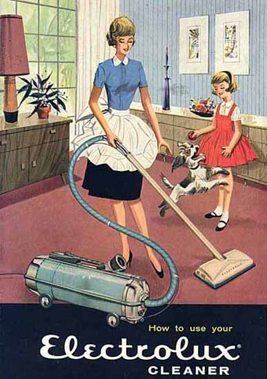 Electrolux Vacuum Cleaner Model G Ad 1960 | Vintage Ad and Cover Art 1891-1970