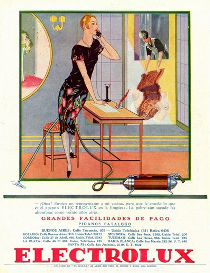 Electrolux Vacuum Cleaners Buenos Aires | Sex Appeal Vintage Ads and Covers 1891-1970