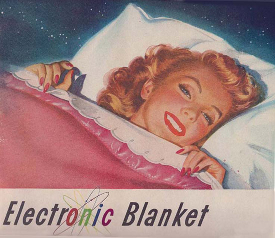 Electronic Blanket Bed Girl | Sex Appeal Vintage Ads and Covers 1891-1970