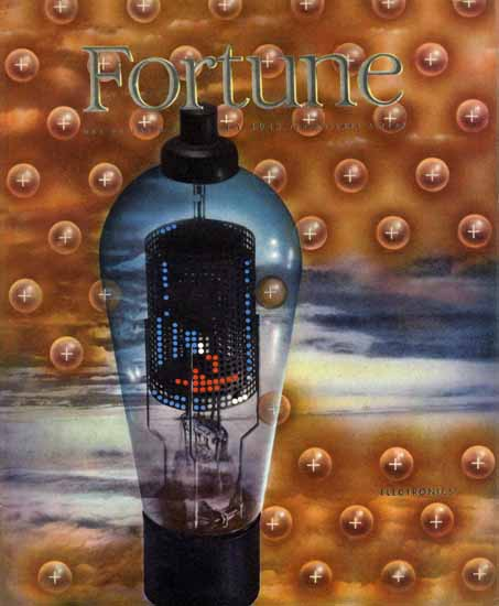 Electronics Fortune Magazine July 1943 Copyright | Fortune Magazine Graphic Art Covers 1930-1959