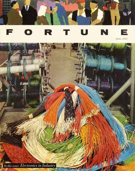 Electronics in Industry Fortune Magazine June 1957 Copyright | Fortune Magazine Graphic Art Covers 1930-1959