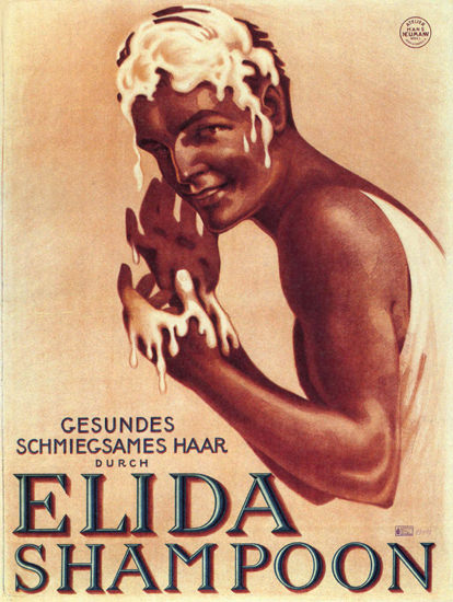 Elida Shampoon Gesundes Schmiegsames Haar | Sex Appeal Vintage Ads and Covers 1891-1970