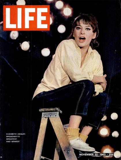 Elizabeth Ashley Barefoot in Park 22 Nov 1963 Copyright Life Magazine   Life Magazine Color Photo Covers 1937-1970