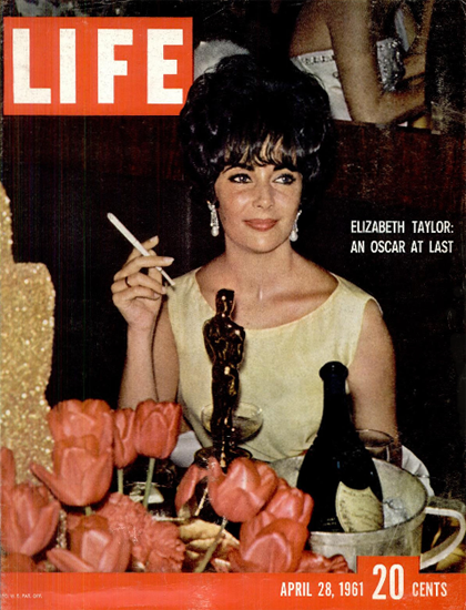 Elizabeth Taylor an Oscar at last 28 Apr 1961 Copyright Life Magazine   Life Magazine Color Photo Covers 1937-1970