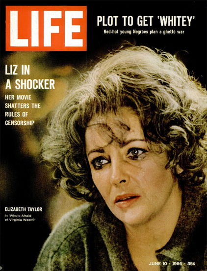 Elizabeth Taylor as Virginia Woolf 10 Jun 1966 Copyright Life Magazine | Life Magazine Color Photo Covers 1937-1970