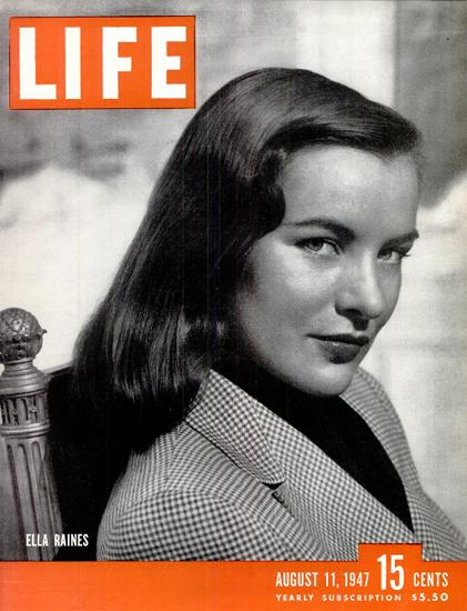 Ella Raines 11 Aug 1947 Copyright Life Magazine | Life Magazine BW Photo Covers 1936-1970