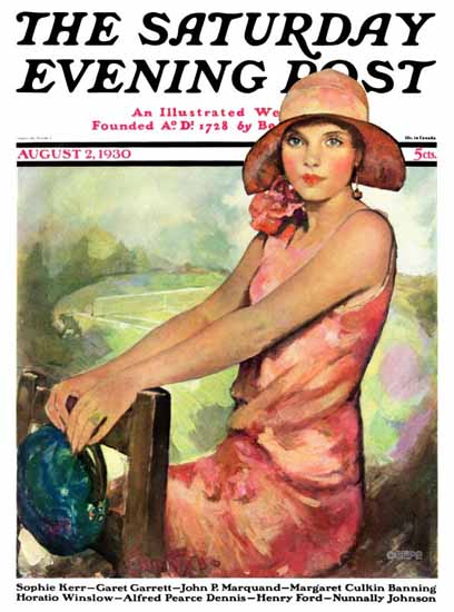 Ellen Pyle Cover Artist Saturday Evening Post 1930_08_02 Sex Appeal | Sex Appeal Vintage Ads and Covers 1891-1970