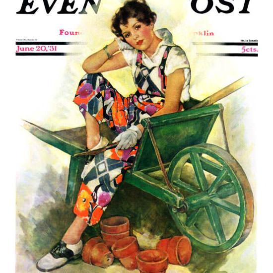 Ellen Pyle Saturday Evening Post 1931_06_20 Copyright crop   Best of Vintage Cover Art 1900-1970