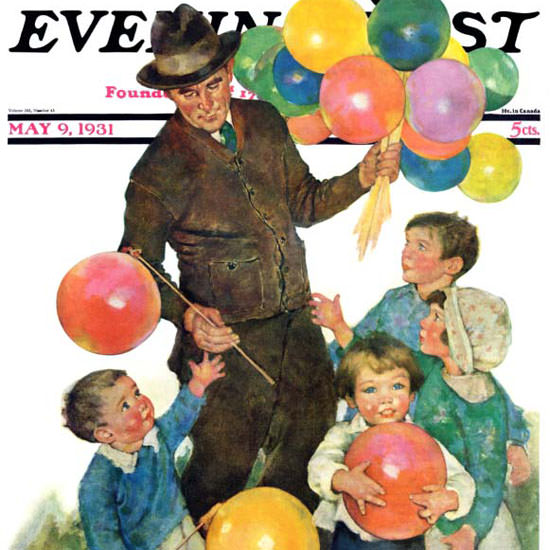 Ellen Pyle Saturday Evening Post Balloonman 1931_05_09 Copyright crop | Best of 1930s Ad and Cover Art