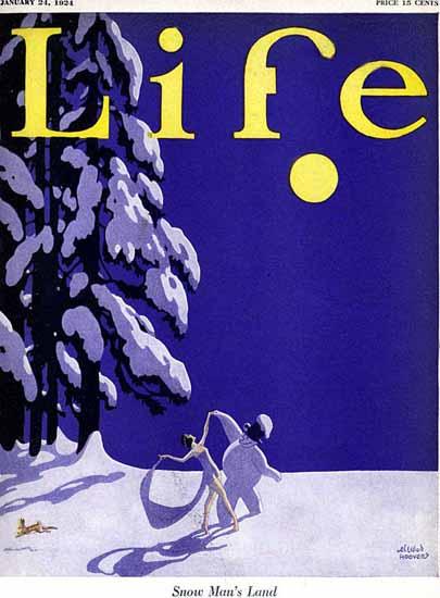 Ellison Hoover Life Humor Magazine 1924-01-24 Copyright | Life Magazine Graphic Art Covers 1891-1936
