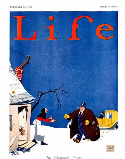 Ellison Hoover Life Humor Magazine 1924-02-28 Copyright | Life Magazine Graphic Art Covers 1891-1936