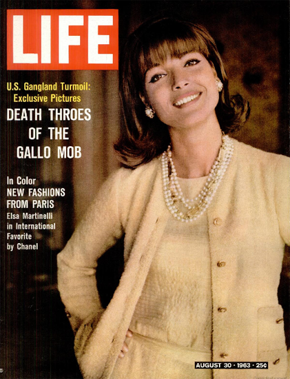 Elsa Martinelli Fashions from Paris 30 Aug 1963 Copyright Life Magazine | Life Magazine Color Photo Covers 1937-1970