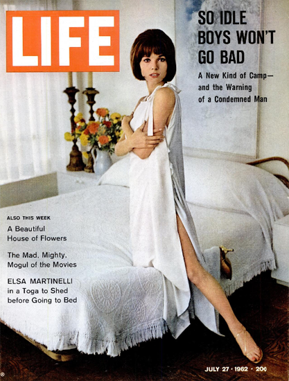 Elsa Martinelli in a Toga to Shed 27 Jul 1962 Copyright Life Magazine | Life Magazine Color Photo Covers 1937-1970