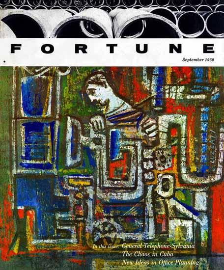 Emanuele Luzzati Fortune Magazine September 1959 Copyright | Fortune Magazine Graphic Art Covers 1930-1959