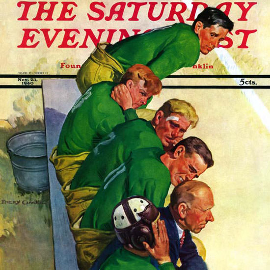 Emery Clarke Saturday Evening Post Team 1940_11_23 Copyright crop | Best of Vintage Cover Art 1900-1970