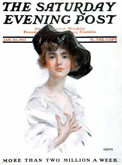 Emil Fuchs Saturday Evening Post Cover Art 1917_01_20 | The Saturday Evening Post Graphic Art Covers 1892-1930