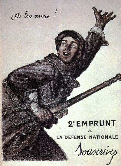 Emprunt Da La Defense Nationale France | Vintage War Propaganda Posters 1891-1970