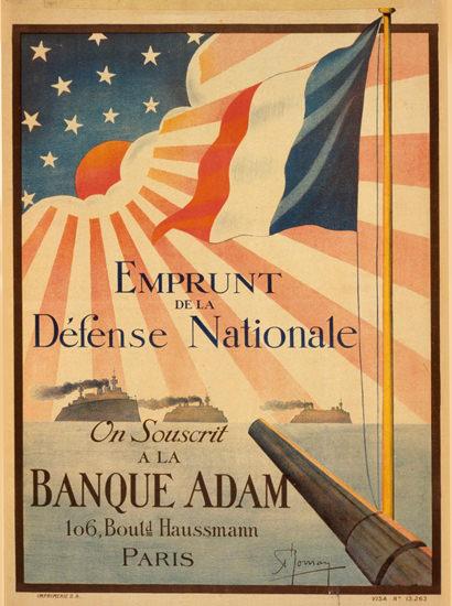 Emprunt De La Defense Nationale Souscrit | Vintage War Propaganda Posters 1891-1970