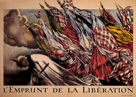 Emprunt De La Liberation France War Bonds | Vintage War Propaganda Posters 1891-1970