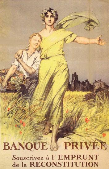 Emprunt De La Reconstitution France War Bonds | Vintage War Propaganda Posters 1891-1970