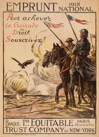 Emprunt National 1918 Pour Achever La Croisade | Vintage War Propaganda Posters 1891-1970