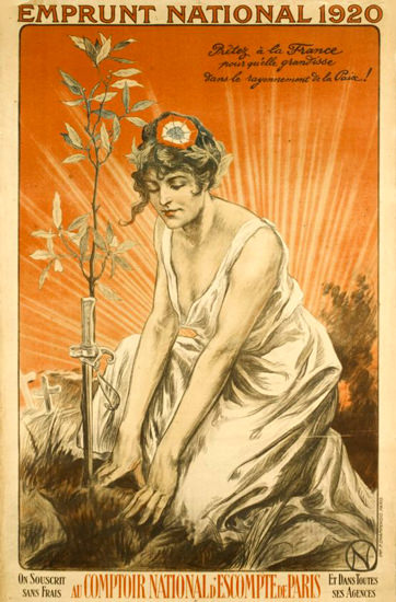 Emprunt National 1920 France | Vintage War Propaganda Posters 1891-1970