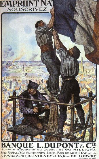 Emprunt Nationale Banque L Dupont France Paris | Vintage War Propaganda Posters 1891-1970