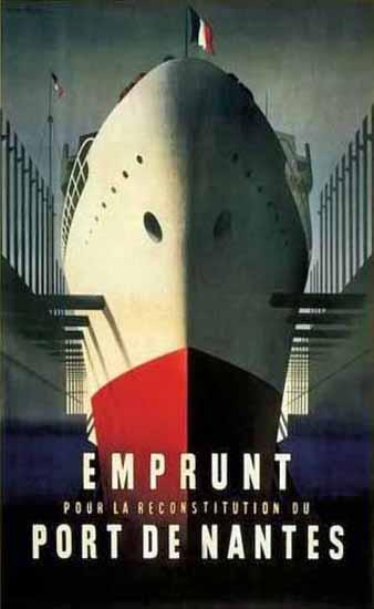 Emprunt Port De Nantes Poster | Vintage Travel Posters 1891-1970