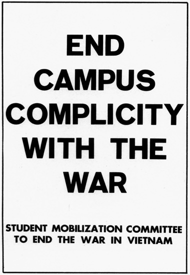 End Campus Complicity With The War In Vietnam | Vintage War Propaganda Posters 1891-1970