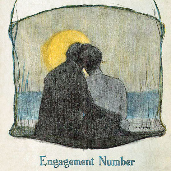 Engagement Number Life Humor Magazine 1903-09-03 Copyright crop | Best of Vintage Cover Art 1900-1970