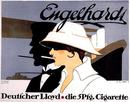 Engelhardt Cigarettes Deutscher Lloyd 1915 | Sex Appeal Vintage Ads and Covers 1891-1970