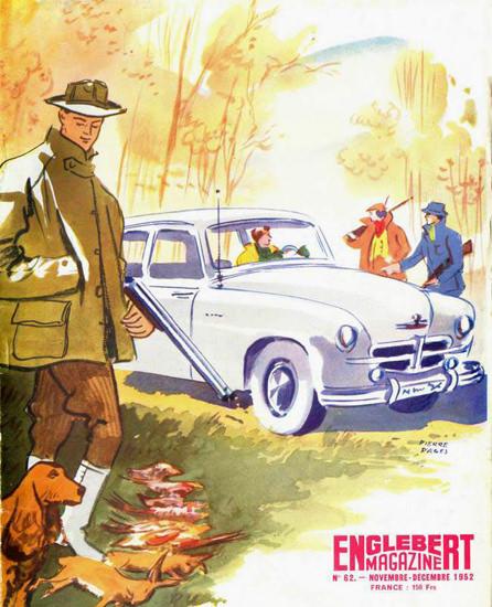 Englebert Magazine 1952 Hunters | Vintage Ad and Cover Art 1891-1970