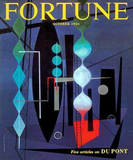 Erberto Carboni Fortune Magazine October 1950 Copyright | Fortune Magazine Graphic Art Covers 1930-1959