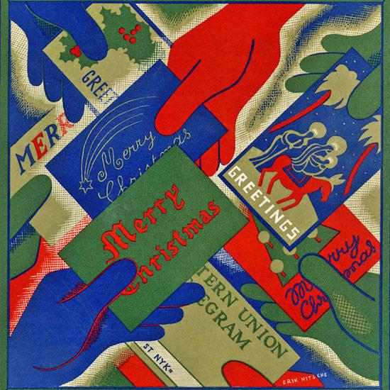 Erik Nitsche Fortune Magazine December 1936 Copyright crop | Best of Vintage Cover Art 1900-1970